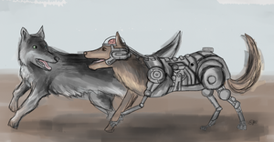 Rex and Dogmeat by Emily-asdfg