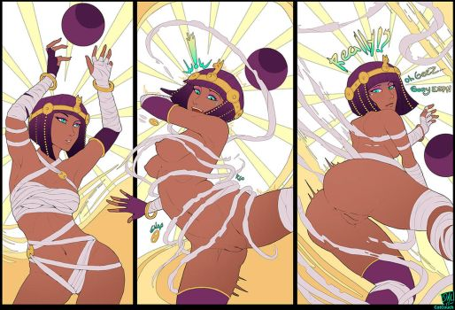 Menat Wardrobe Malfunction by CatCouch