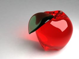Glass Apple by the-crimson-shoe