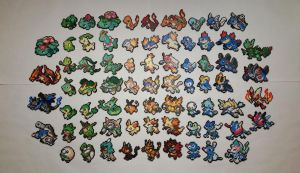 Pokemon All Starters and Evolutions Perlers by jrfromdallas