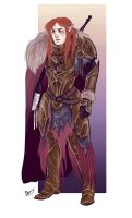 Maedhros in battle armor by Egobarri