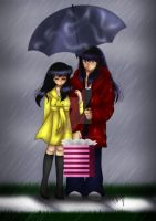 +Caught in the Rain+ by InuKagomeluvrs