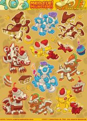 Little Cake Dragons Stickers by The-SixthLeafClover