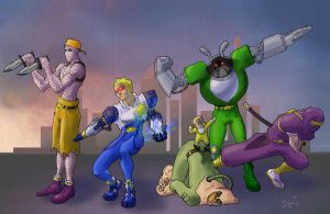 Captain Commando squad by dkdelicious