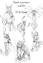 Sketch commissions - opening tonight at 8pm GMT+1 by PanHesekielShiroi