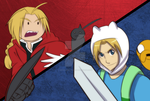 FMA X ADVENTURE TIME by witch-girl-pilar