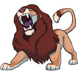 Ranting lion sticker by Panimated