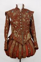 Red + Gold Renaissance Doublet Final by paedess
