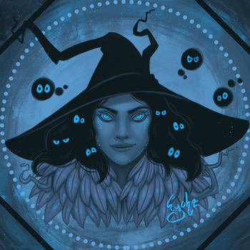 Day 2 - Palette - Witch by Eyoha
