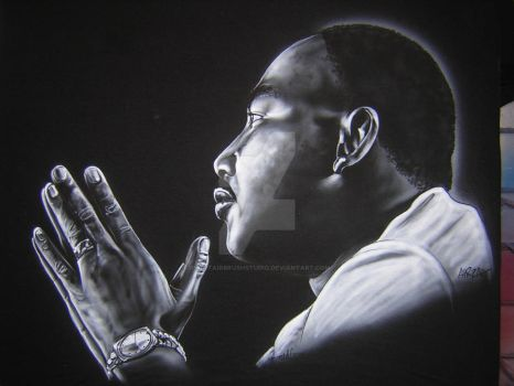 Martin Luther King Jr. by iPaintAirbrushStudio