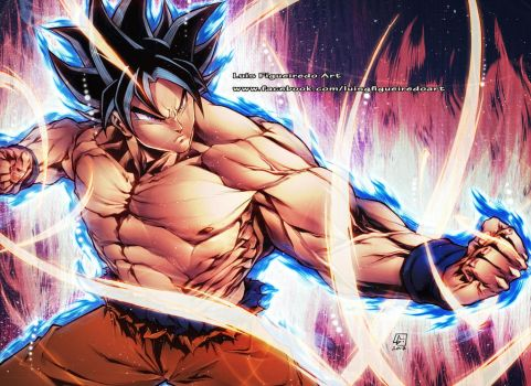 GOKU NEW FORM COLORED version by marvelmania