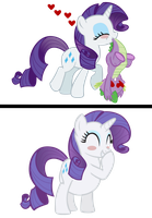 Rarity eats spike by RarityVore
