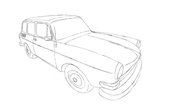 VW Type 3 Squareback line art by muzz-dogg