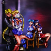 Sailor Moon 'Femforce 119' Tribute by sleepy-comics