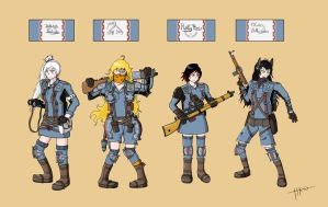 ValkRWBY Chronicles: Squad RWBY by ISawABear
