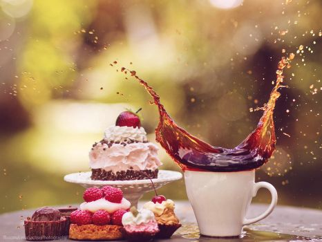cake and coffee II by violetkitty92
