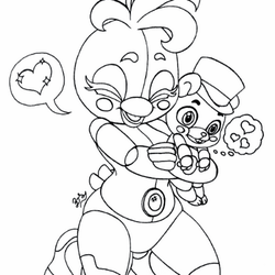 Funtime Chica and Helpy (PROCESS) by PilloTheStar
