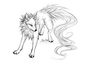 Lineart: Canine by Snow-Body