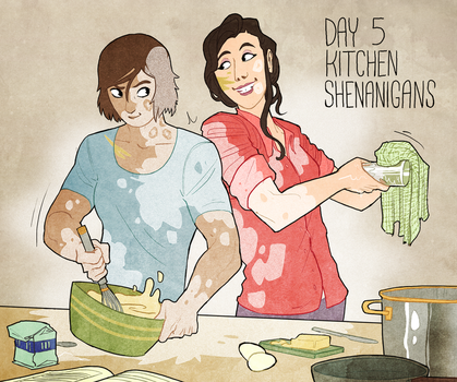 Korrasami Week 2017 - Day 5: Kitchen Shenanigans by Phi8