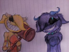 Art trade: The freak and the beast by LovexyHub