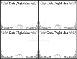 Date Night Idea Cards by thedustyphoenix