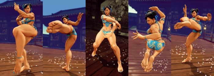 SFV Mod: Chun-Li Vacation Barefoot by repinscourge