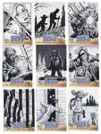 Walking Dead Sketch Cards: 26-34 by AtlantaJones