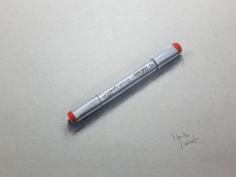 realistic drawing of a Copic marker. by Martinsito15