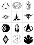 Star Trek Symbols by dridgett