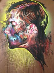 Mixed selfportrait by nailone
