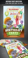 Birthday Party Invitation Flyer by graphicstock