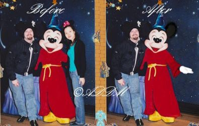 Before after mickey by AngelzDesignz