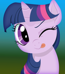 Mischevious Twilight Sparkle by mywatercolorheart