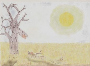 Dead tree and plains by ghostlyman123