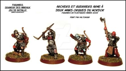 Orc archers and two-handed warriors -LOTR GW by Valtorgun-le-Grand