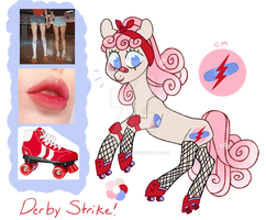 Moodboard Pony Auction [CLOSED] Derby Strike by JellyBeanBullet