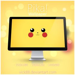 Pika! Wallpaper by VicK88