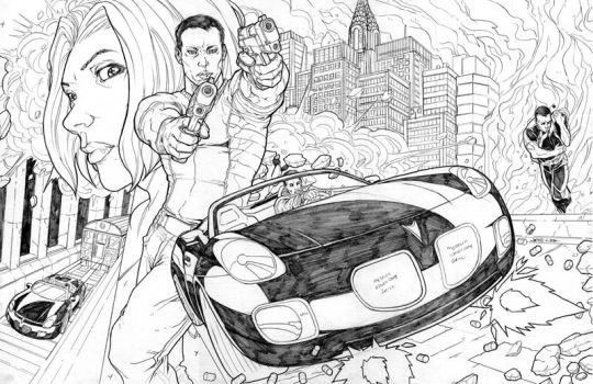 rush city two page spread by NgBoy