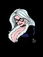 Black Cat Bust by pascal-verhoef