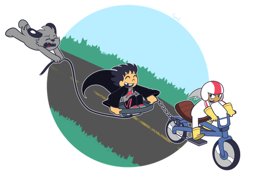 POINT COMMISSION: The Ride Downhill by SariSpy56