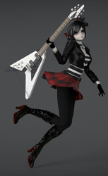 [MMD] Tda HeartRock Giftsan [close dl] by maunkid