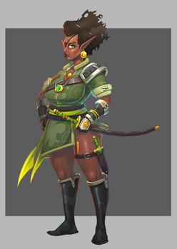 Elf concept art by MikeTheUser