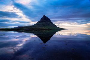Kirkjufell Midnight Sun by marcsharp