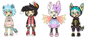 Set Price Kemonomimi Adopts - CLOSED by M0NSTERP0CKETS