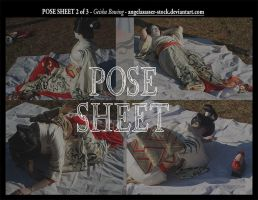 POSE SHEET 2 of 3: Geisha Fallen by themuseslibrary