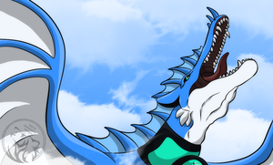 Mighty roar of the Azure Dragon by AzureHowlShilach