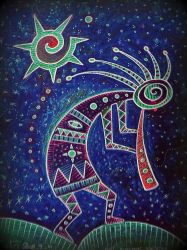shaman hopi kokopelli kashina santosun in the dark by santosam81