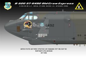 B-52G 57-6492 Nose (Old Crow Express) 24x36 by BRAVO464