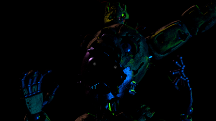 Ignited Springtrap Wallpaper by EndyArts
