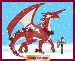 Christmas Dragon by DragonsFlameMagic